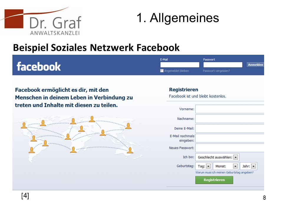 1. Allgemeines Beispiel Soziales Netzwerk Facebook 8 [4]