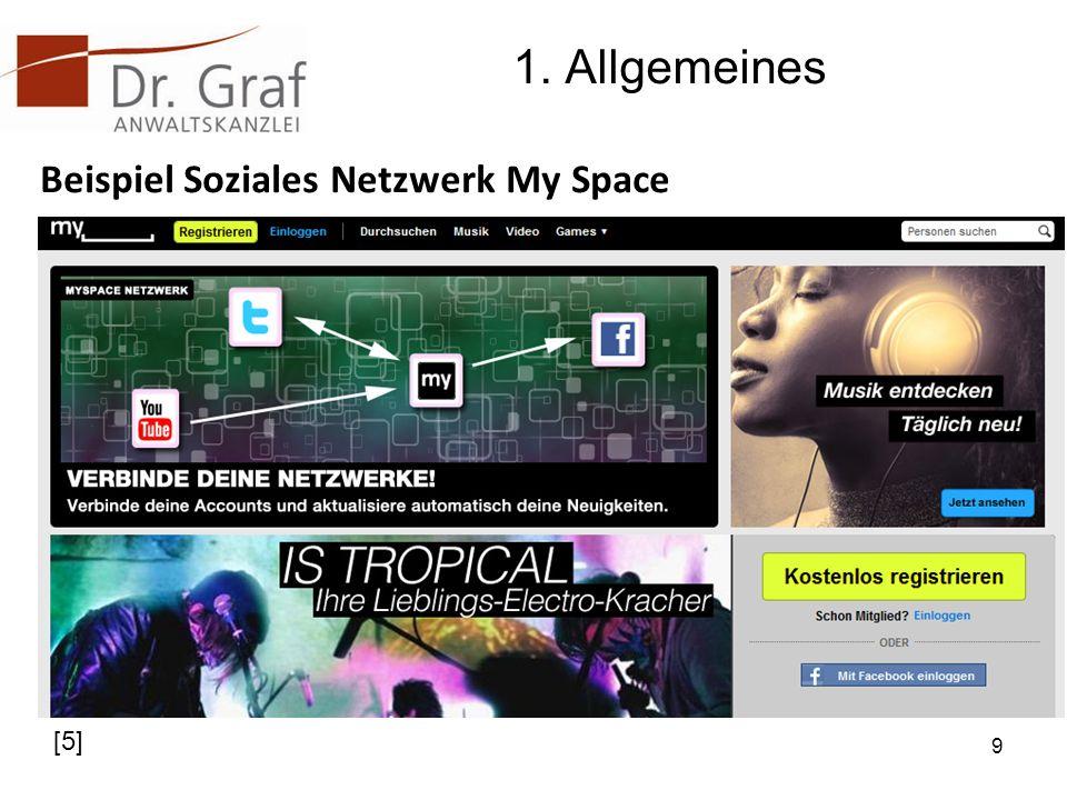 1. Allgemeines Beispiel Soziales Netzwerk My Space 9 [5]