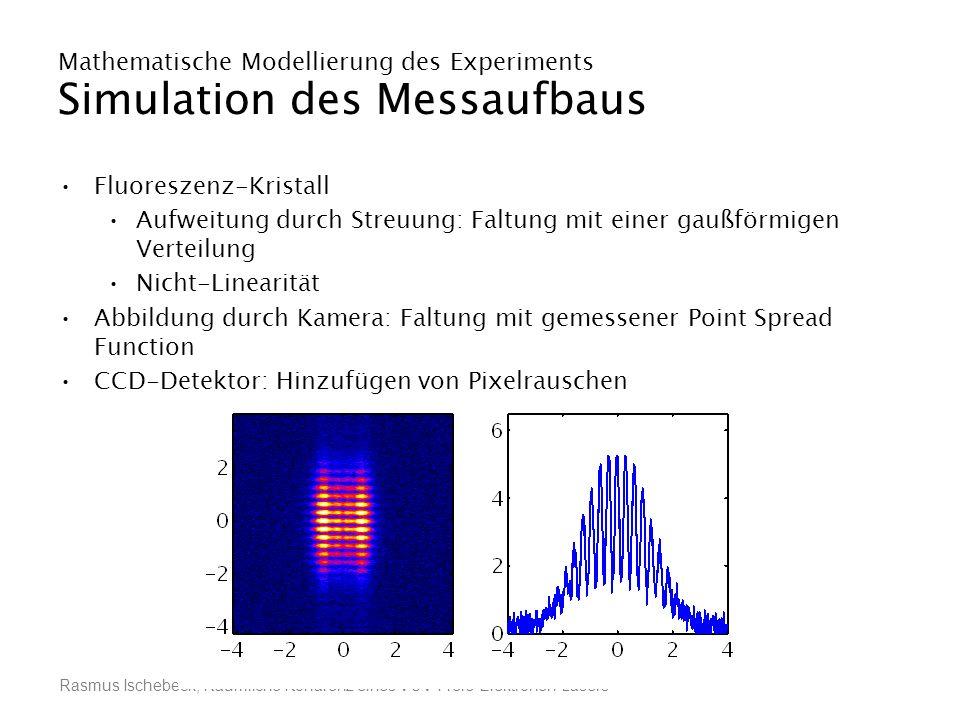 Rasmus Ischebeck, Räumliche Kohärenz eines VUV-Freie-Elektronen-Lasers Mathematische Modellierung des Experiments Simulation des Messaufbaus Fluoresze