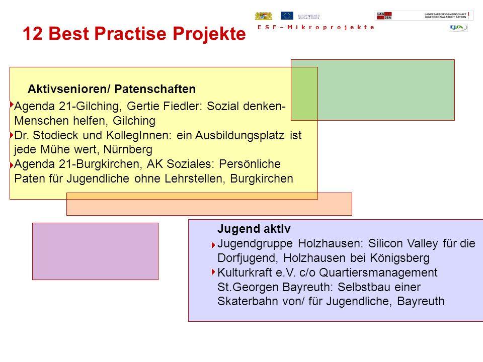 Aktivsenioren/ Patenschaften Agenda 21-Gilching, Gertie Fiedler: Sozial denken- Menschen helfen, Gilching Dr. Stodieck und KollegInnen: ein Ausbildung