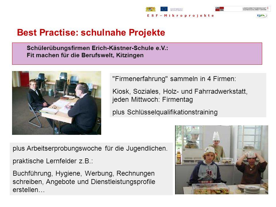Schülerübungsfirmen Erich-Kästner-Schule e.V.: Fit machen für die Berufswelt, Kitzingen