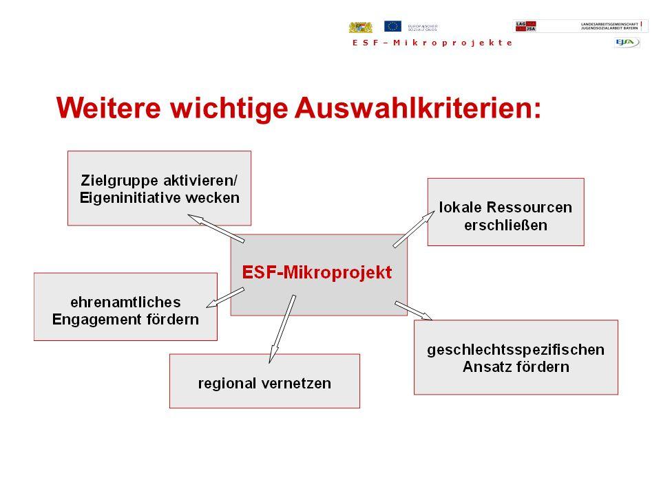 118 ESF-Mikroprojekte in Bayern E S F – M i k r o p r o j e k t e