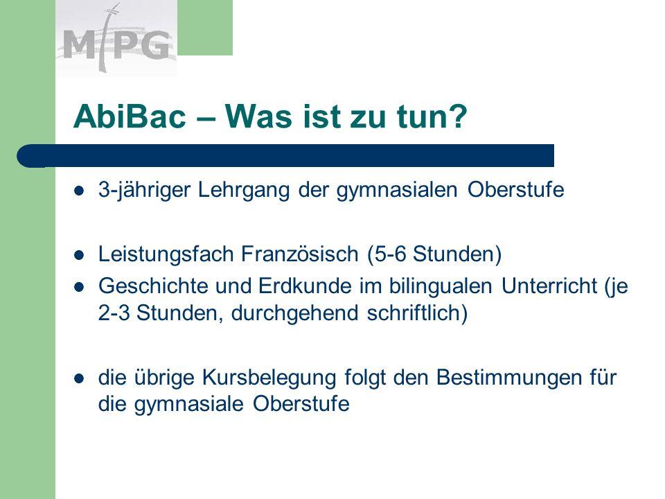 AbiBac – Was ist zu tun.