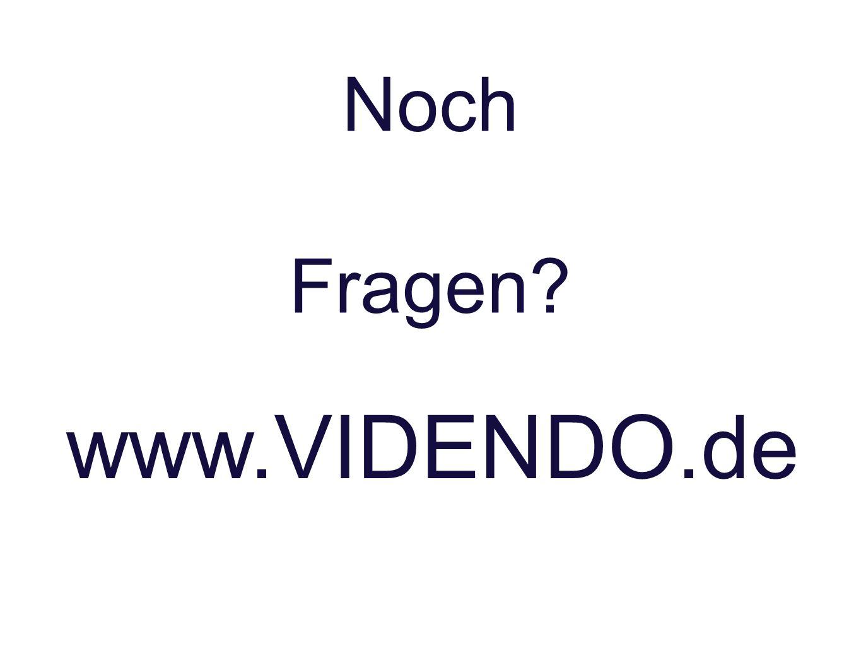 Noch Fragen? www.VIDENDO.de