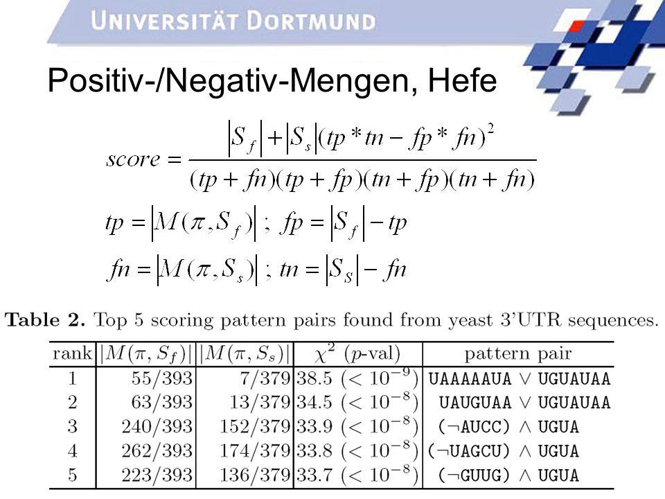 33 Positiv-/Negativ-Mengen, Hefe