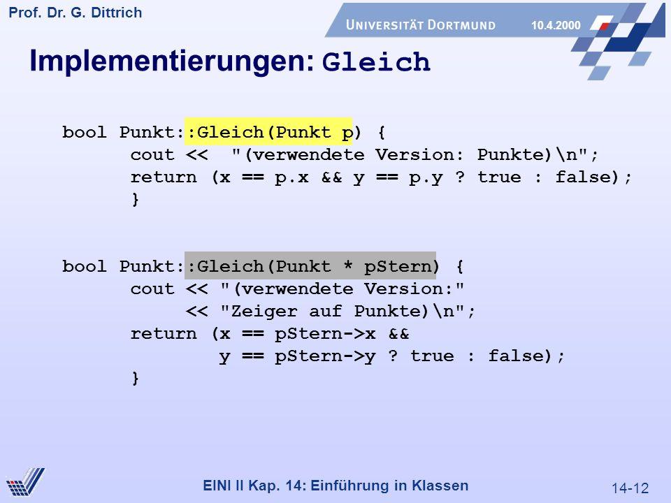 14-12 Prof. Dr. G. Dittrich 10.4.2000 EINI II Kap.