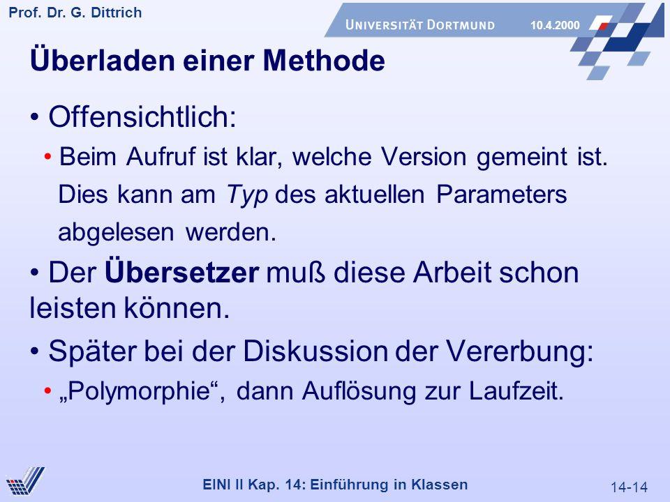 14-14 Prof. Dr. G. Dittrich 10.4.2000 EINI II Kap.