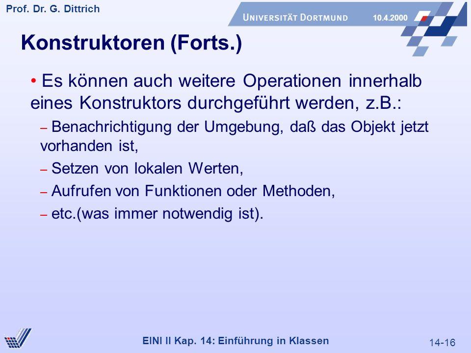 14-16 Prof. Dr. G. Dittrich 10.4.2000 EINI II Kap.