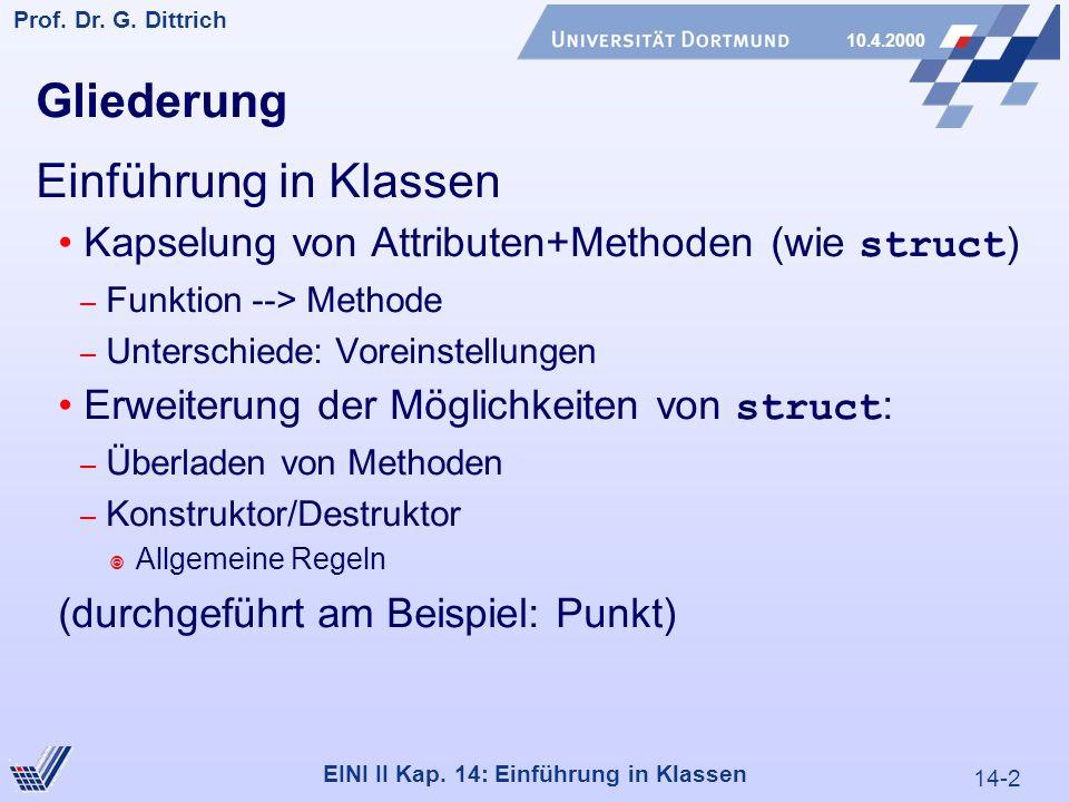 14-2 Prof. Dr. G. Dittrich 10.4.2000 EINI II Kap.