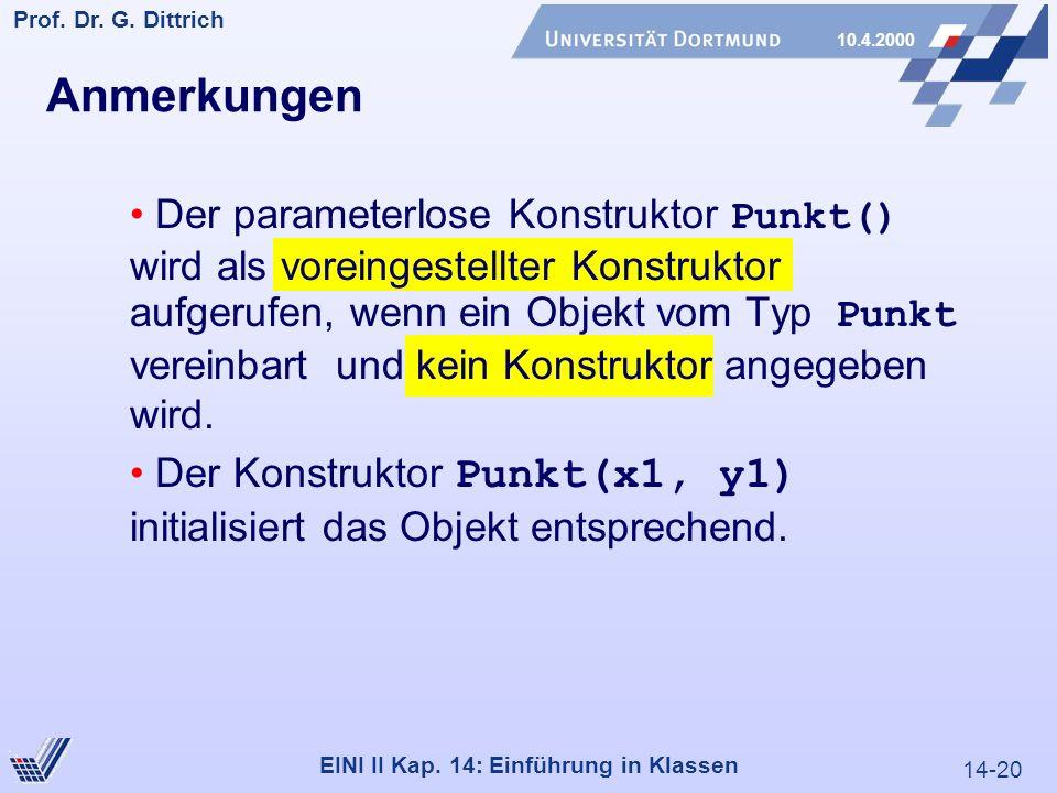 14-20 Prof. Dr. G. Dittrich 10.4.2000 EINI II Kap.