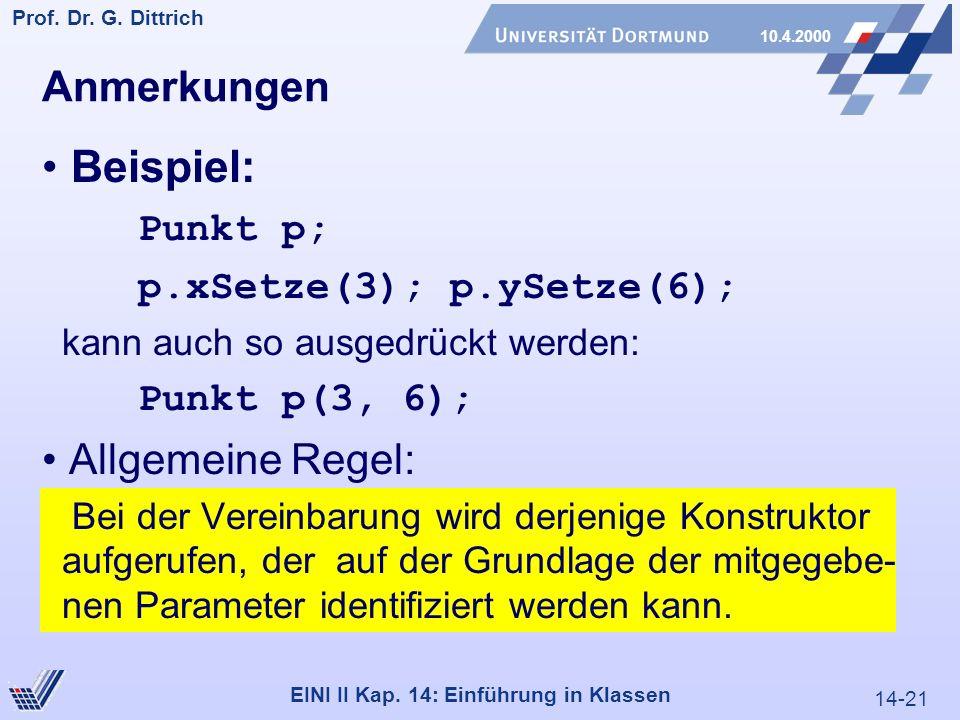 14-21 Prof. Dr. G. Dittrich 10.4.2000 EINI II Kap.
