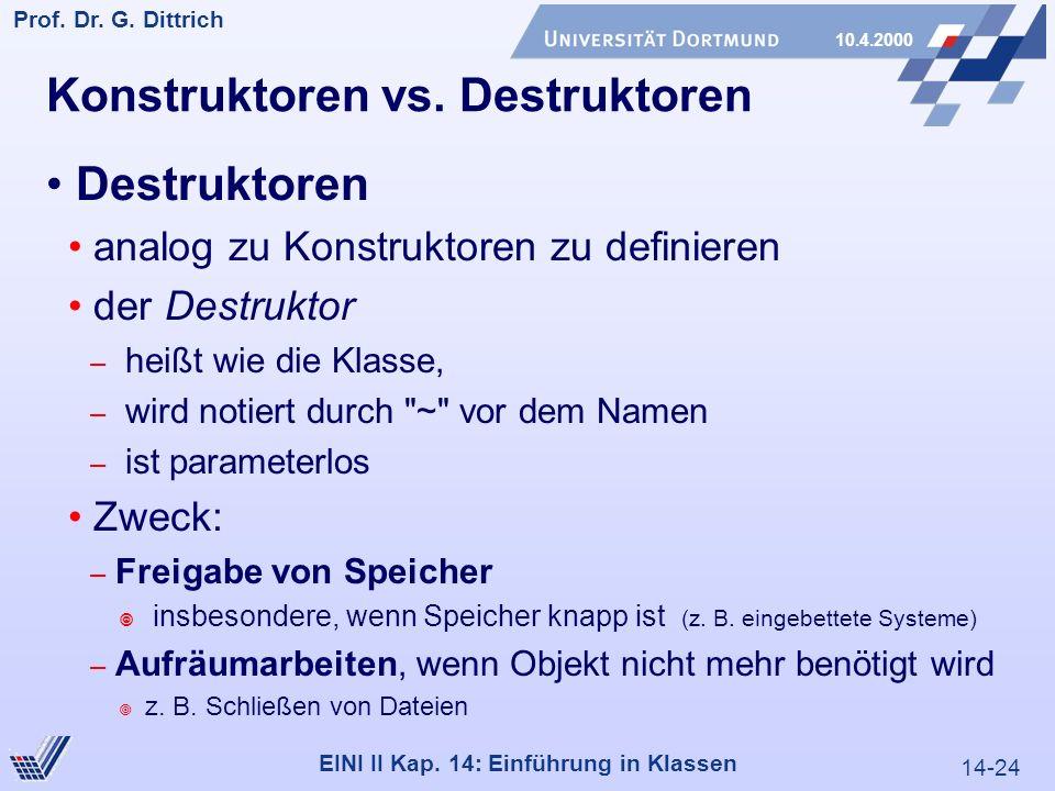 14-24 Prof. Dr. G. Dittrich 10.4.2000 EINI II Kap.