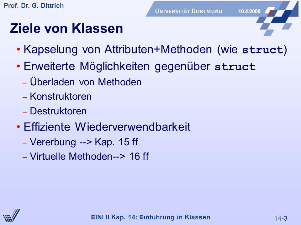 14-3 Prof. Dr. G. Dittrich 10.4.2000 EINI II Kap.