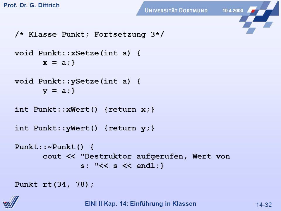 14-32 Prof. Dr. G. Dittrich 10.4.2000 EINI II Kap.