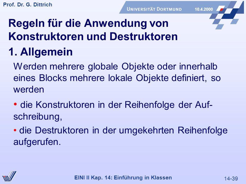 14-39 Prof. Dr. G. Dittrich 10.4.2000 EINI II Kap.