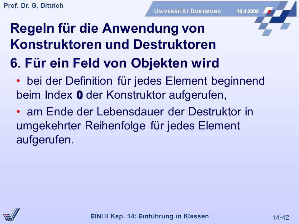 14-42 Prof. Dr. G. Dittrich 10.4.2000 EINI II Kap.