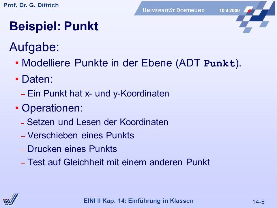 14-5 Prof. Dr. G. Dittrich 10.4.2000 EINI II Kap.