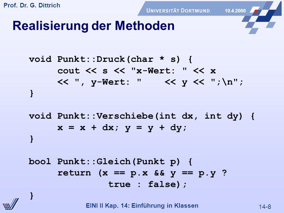 14-8 Prof. Dr. G. Dittrich 10.4.2000 EINI II Kap.