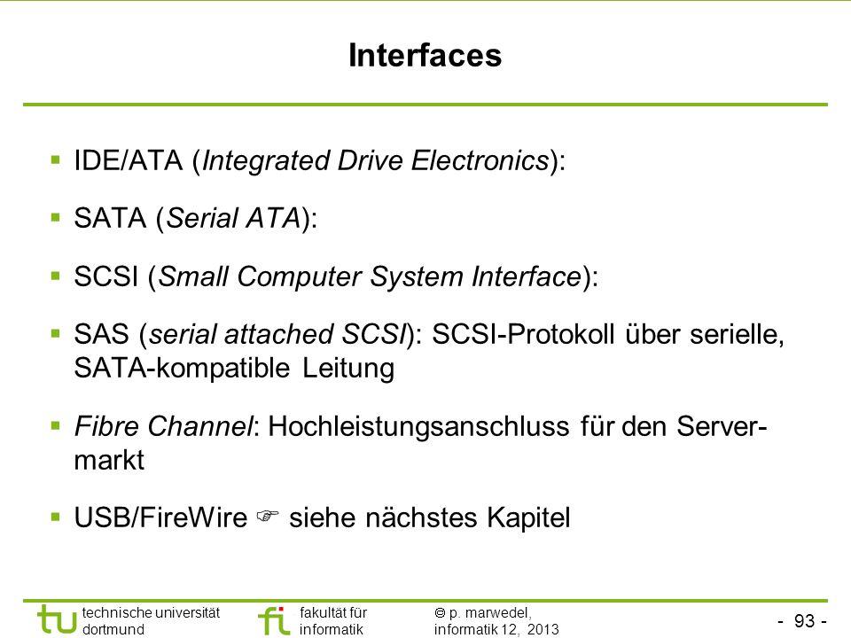 - 92 - technische universität dortmund fakultät für informatik p. marwedel, informatik 12, 2013 Verteilung der Spurdifferenzen