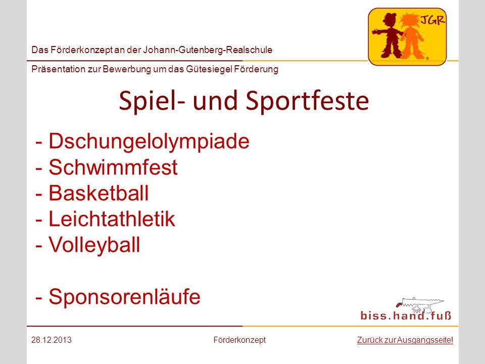 Das Förderkonzept an der Johann-Gutenberg-Realschule Präsentation zur Bewerbung um das Gütesiegel Förderung Spiel- und Sportfeste 28.12.2013Förderkonz
