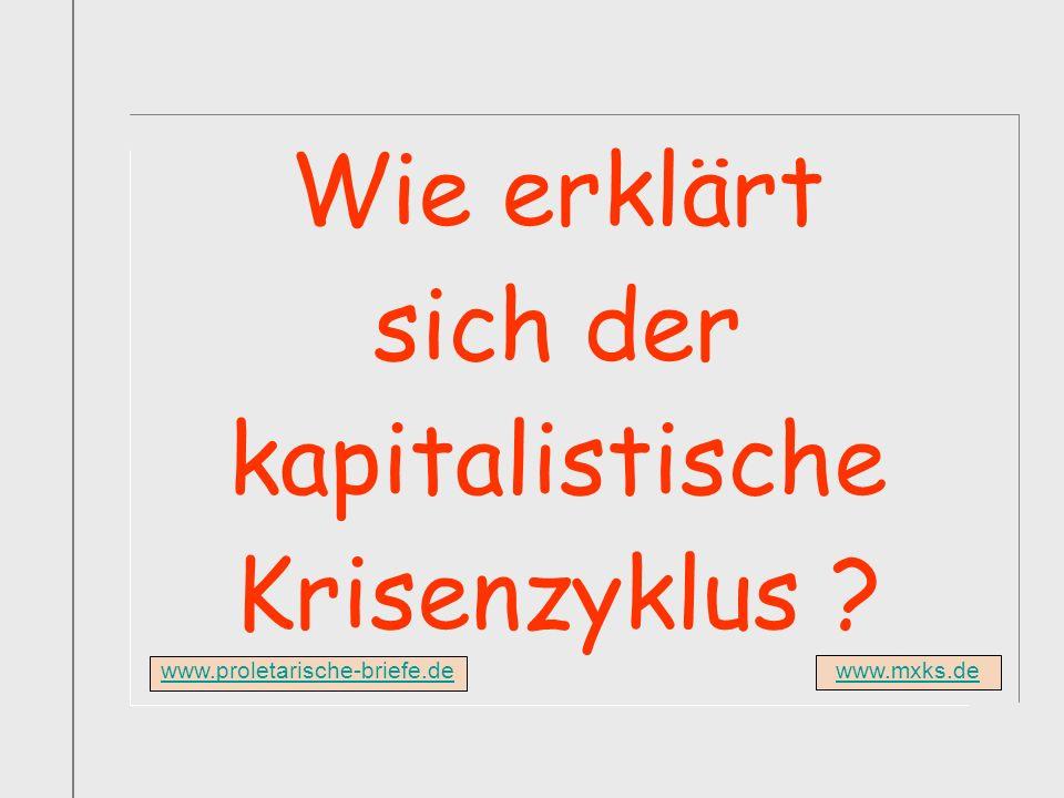 www.mxks.de Wie erklärt sich der kapitalistische Krisenzyklus ? www.proletarische-briefe.de