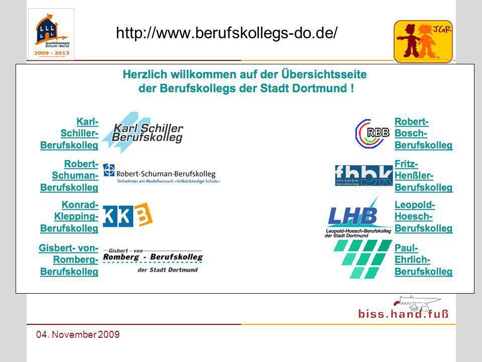 Berufswahlorientierung an der Johann-Gutenberg-Realschule 04. November 2009 http://www.berufskollegs-do.de/