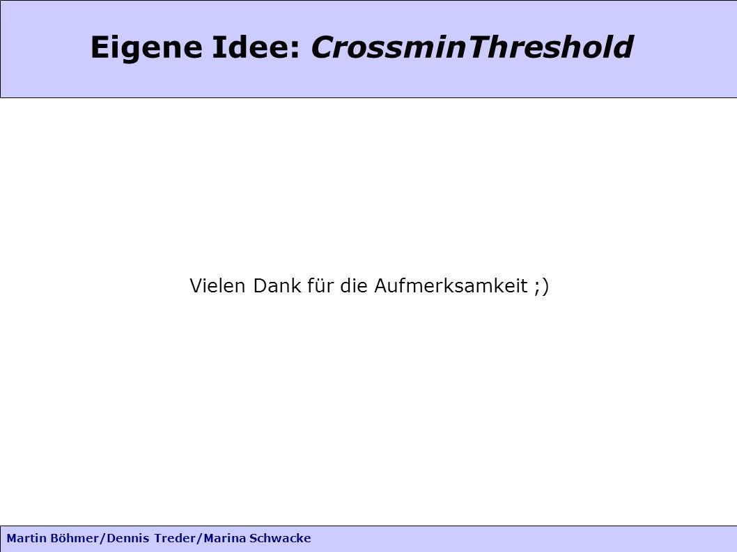 Martin Böhmer/Dennis Treder/Marina Schwacke Eigene Idee: CrossminThreshold Vielen Dank für die Aufmerksamkeit ;)