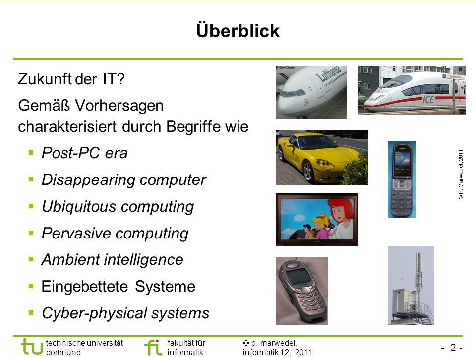 fakultät für informatik informatik 12 technische universität dortmund Rechner in Eingebetteten Systemen