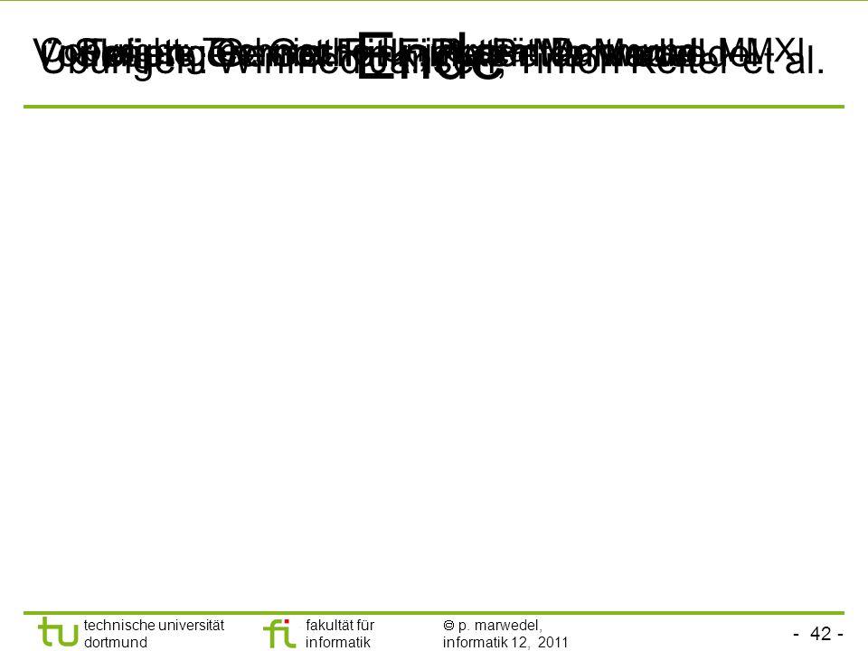 - 41 - technische universität dortmund fakultät für informatik p. marwedel, informatik 12, 2011 Zusammenfassung Definition Eingebetteter Systeme Bespr