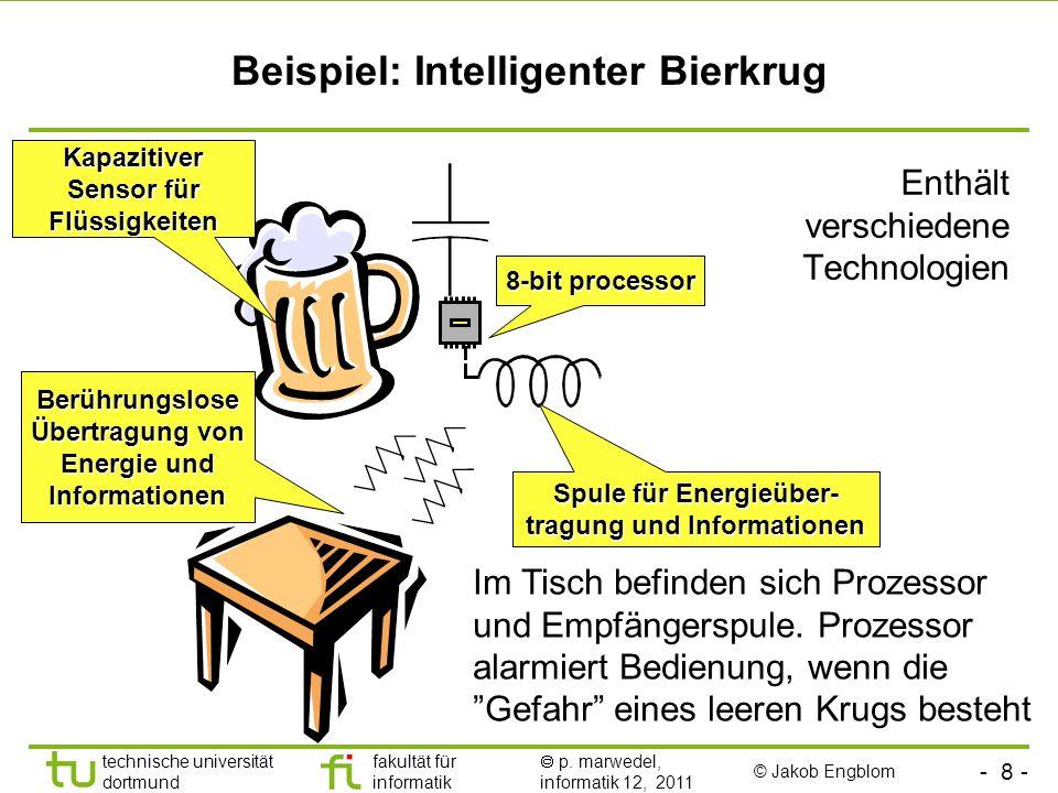 - 7 - technische universität dortmund fakultät für informatik p. marwedel, informatik 12, 2011 Anwendungsbereiche (2) Roboter Gesundheitswesen Sicherh