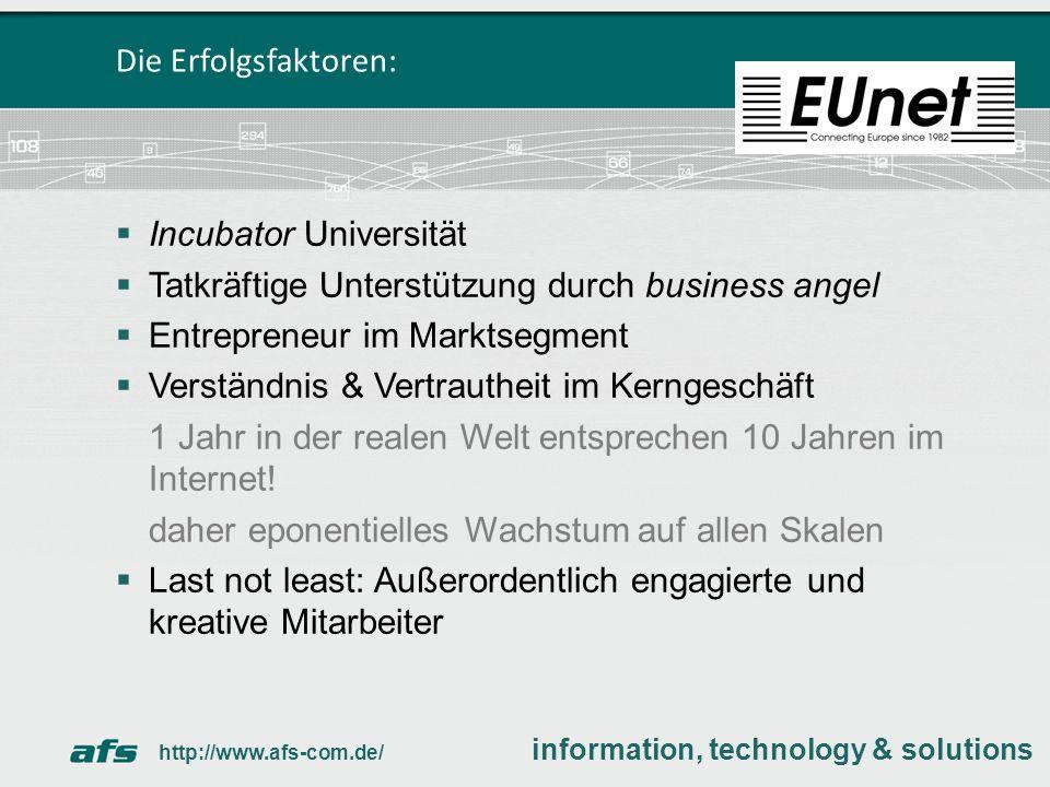 EUnet – ein One Hit Wunder.Dipl. Inform. Andreas F.