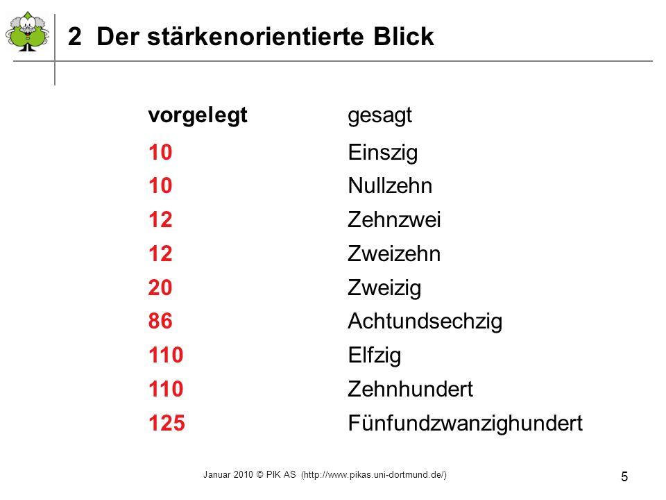 Januar 2010 © PIK AS (http://www.pikas.uni-dortmund.de/) 16 Wie viel ist 701–698.