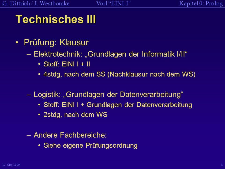 Kapitel 0: PrologVorl EINI-I G.Dittrich / J. Westbomke 15.