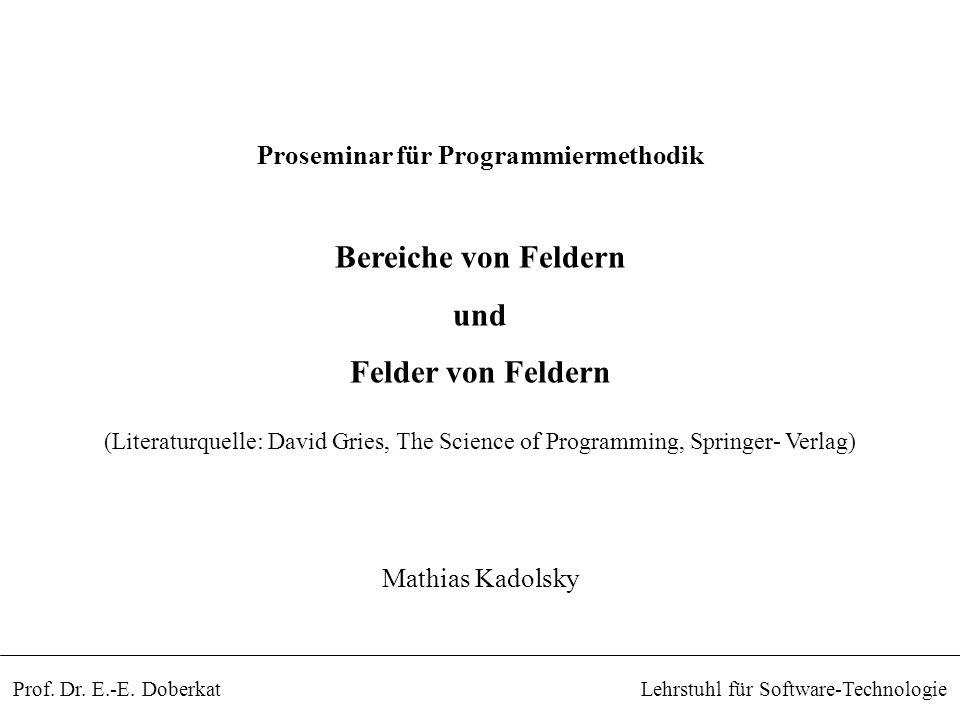 Lehrstuhl für Software-TechnologieProf.Dr. E.-E.