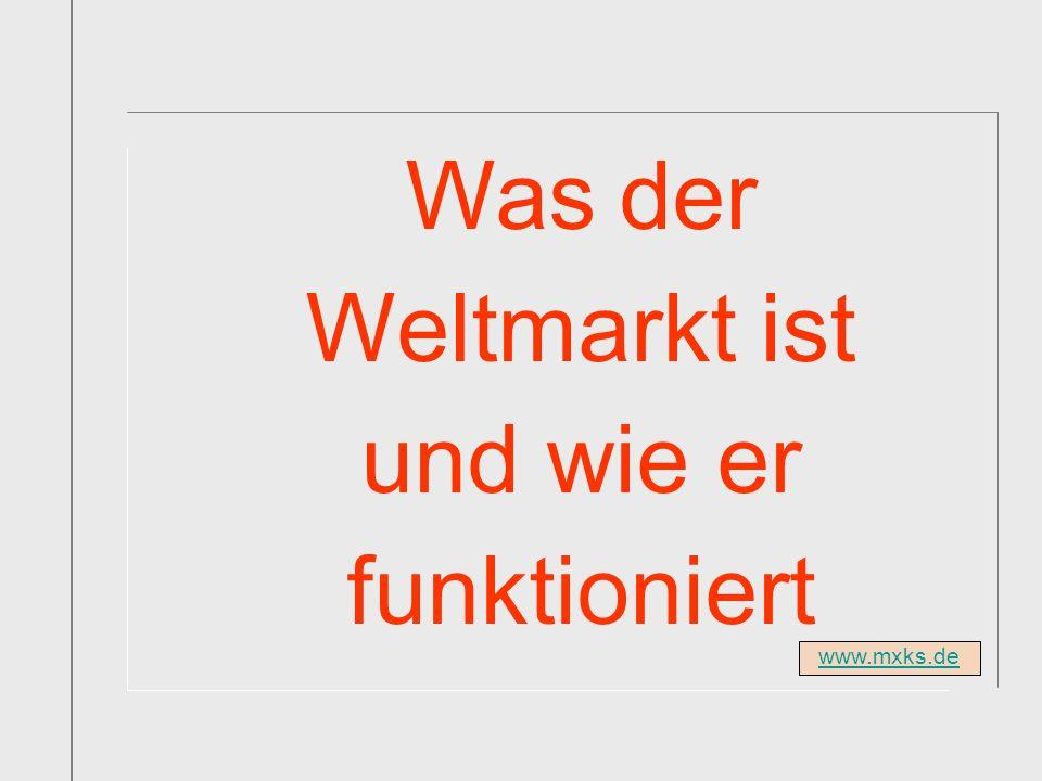 www.mxks.de Was der Weltmarkt ist und wie er funktioniert