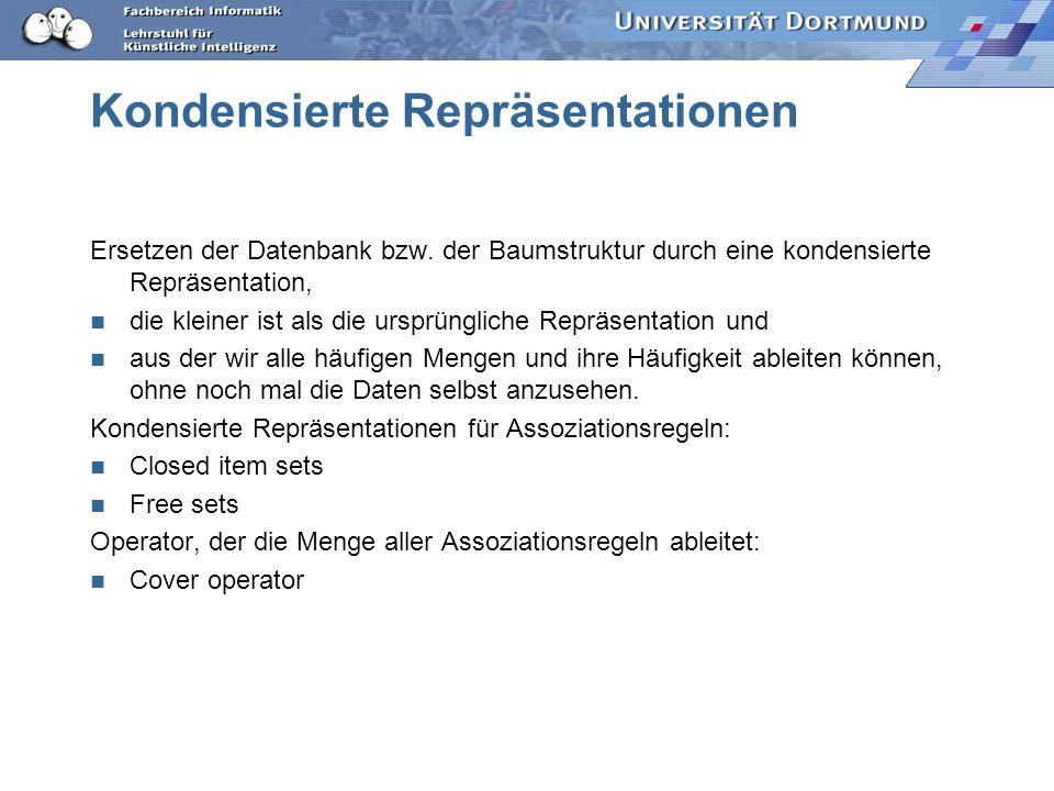 Kondensierte Repräsentationen Ersetzen der Datenbank bzw.