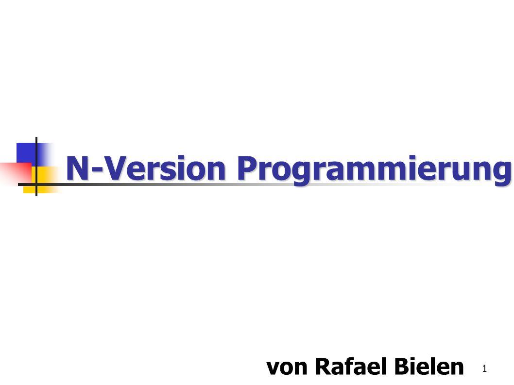 22 Experimentale Resultate der UCLA 1/4 Experimentale Resultate der UCLA 1/4 UCLA negativ aufgefallen Klassische Computersysteme sind nicht gut dafür geeignet, N-Version Software auszuführen und zu überwachen.