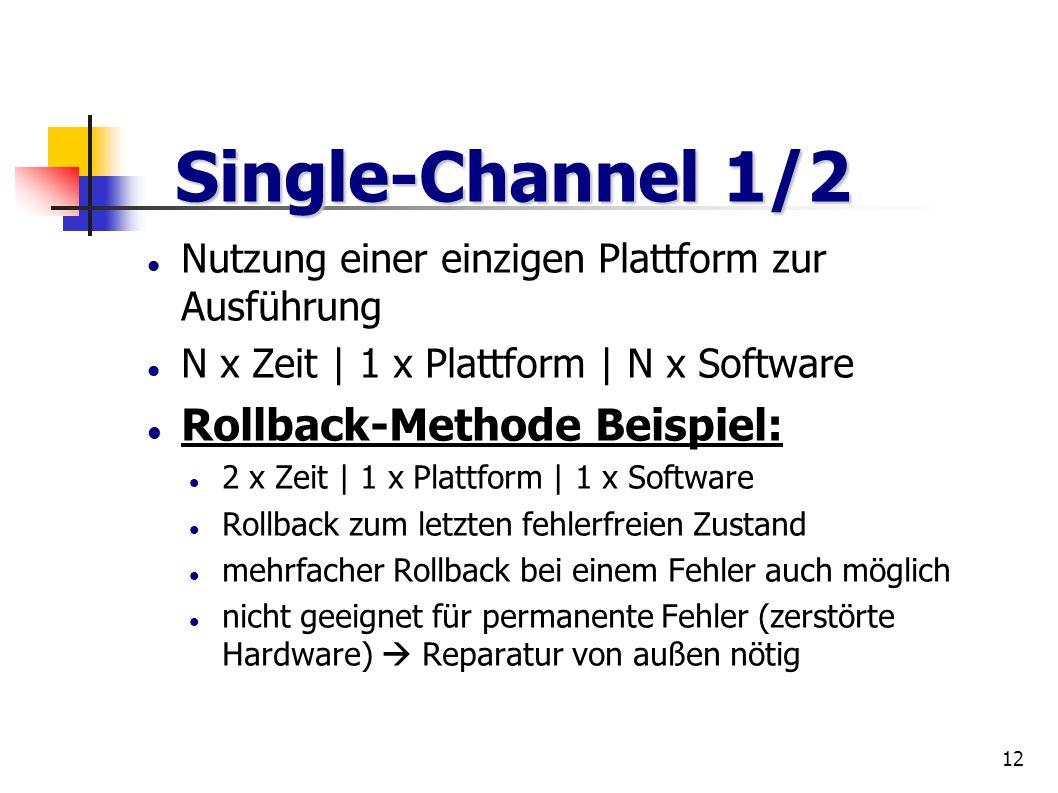 12 Nutzung einer einzigen Plattform zur Ausführung N x Zeit | 1 x Plattform | N x Software Rollback-Methode Beispiel: 2 x Zeit | 1 x Plattform | 1 x S