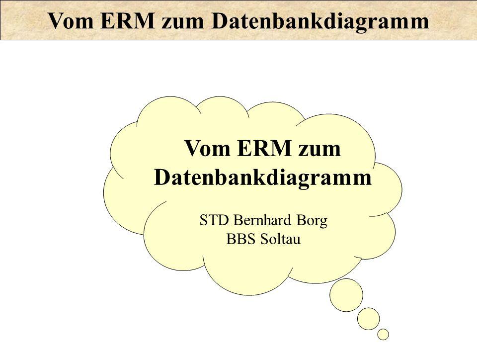 Vom ERM zum Datenbankdiagramm STD Bernhard Borg BBS Soltau