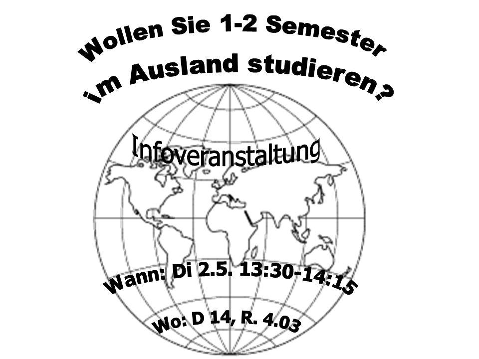 Europa : Studium FAQs (1/2) Werden die im Ausland erworbenen Scheine anerkannt.