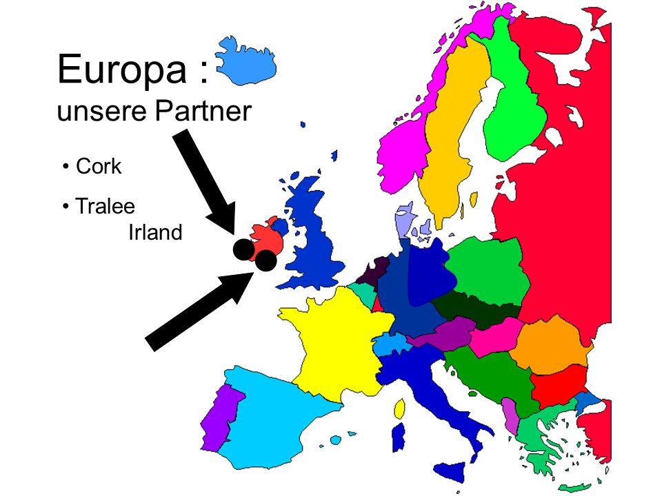 Europa : unsere Partner Cork Tralee Irland