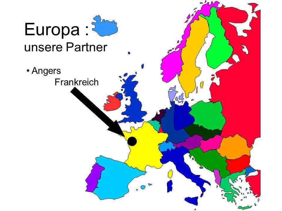 Europa : unsere Partner Angers Frankreich