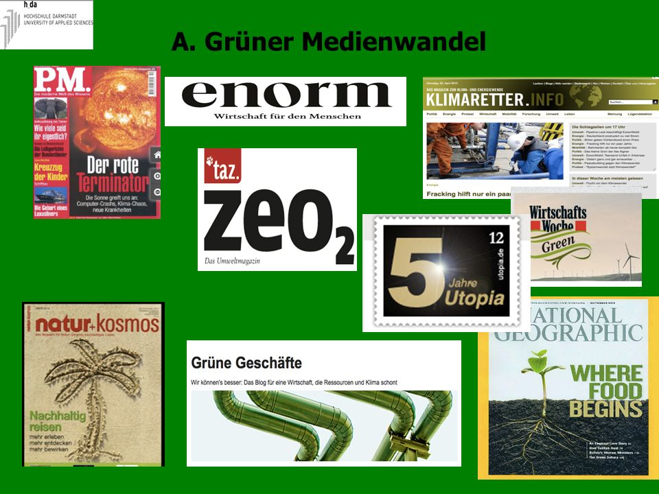 6 A. Grüner Medienwandel: lustvoll Cover DIE ZEIT 13/2013