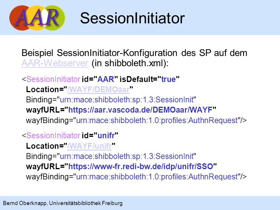 7 Bernd Oberknapp, Universitätsbibliothek Freiburg Im einfachsten Fall erfolgt nur eine Authentifizierung für die Anwendung (HTML-Dateien, Skripte,...) ohne Zugriffskontrolle über Attribute.