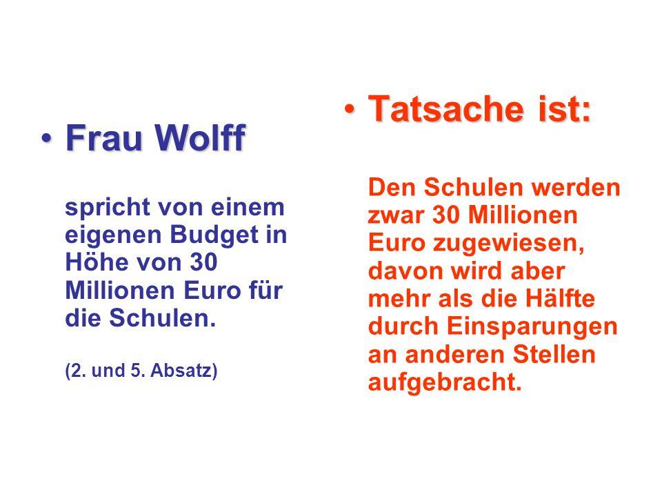 Frau WolffFrau Wolff spricht von einer merklichen Entlastung des Kollegiums.