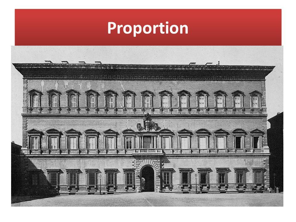 Proportion Maßverhältnisse der einzelnen Bauteile zueinander und zum Gesamtbau. Dabei wird von einem bestimmten Grundmaß (Modul), Grundfiguren (Kreis,