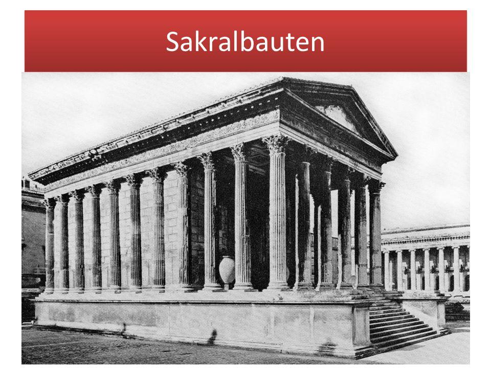 Sakralbauten Sakralarchitektur (lat. sacer = heilig) alle Bauten, die kultischen und religiösen Zwecken dienen in der Antike Tempel, in der christlich