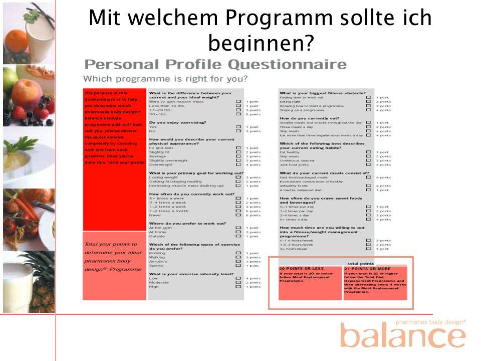 Mit welchem Programm sollte ich beginnen?