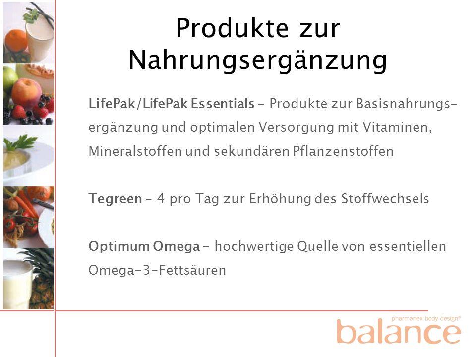Produkte zur Nahrungsergänzung LifePak/LifePak Essentials - Produkte zur Basisnahrungs- ergänzung und optimalen Versorgung mit Vitaminen, Mineralstoff