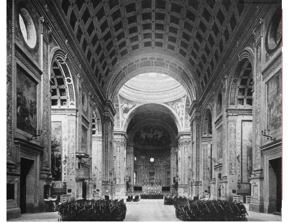 Die Saalkirche SantAndrea in Mantua von Leone Battista Alberti ist einer der Gründungsbauten der Renaissance-Architektur. Alberiti griff nicht nur auf